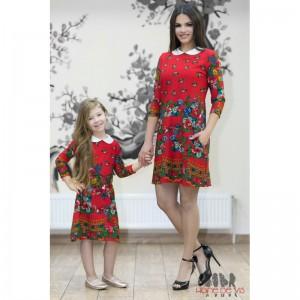 rochii mama fiica rosii