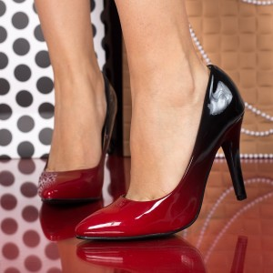 pantofi rosii in degrade