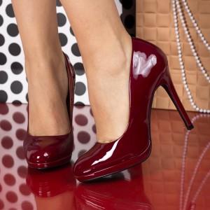 pantofi cu toc visini