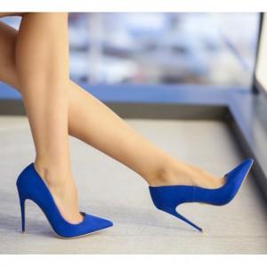 pantofi stiletto albastrii