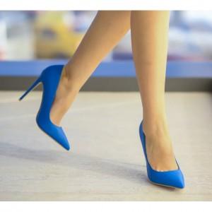pantofi albastrii cu toc