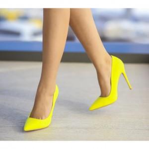 pantofi stiletto galbeni