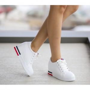 pantofi sport cu platforma albi