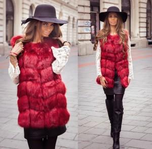 vesta de blana rosie