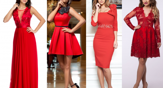 rochii rosii pentru ziua indragostitilor