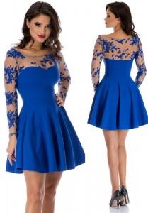 rochie albastra superba
