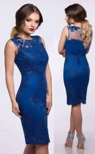 rochie albastra din dantela pretioasa