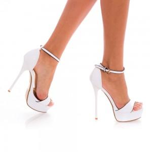 sandale cu toc pentru mireasa