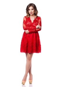 Rochie rosie pentru ziua indragostitilor