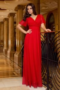 rochie rosie lunga