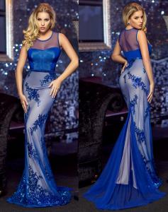 Rochie nasa albastra cu trena