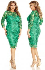 Rochie scurta de soacra verde
