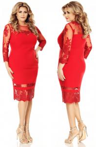 rochie rosie soacra mare