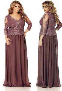 rochie de soacra lunga rose