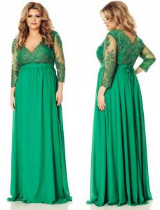 rochie lunga de soacra verde