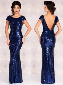 rochie albastra lunga pentru nasa