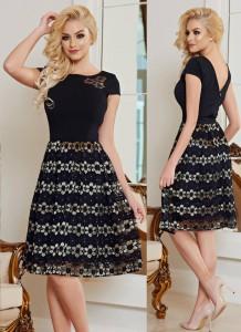 rochie neagra cu floricele