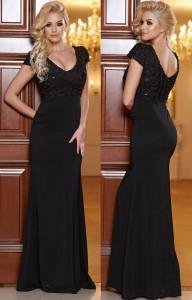 rochie banchet lunga neagra