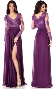 rochie lunga violet