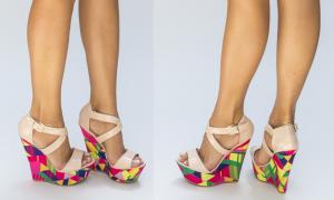 Sandale cu platforma nude