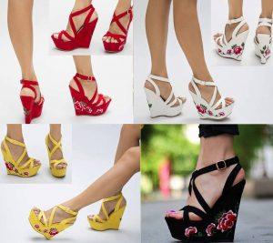 Sandale colorate cu platforma