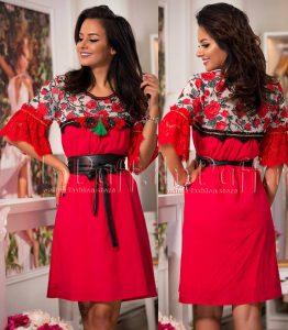 rochie lejera de vara rosie