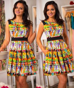 rochie de vara cu imprimeu multi