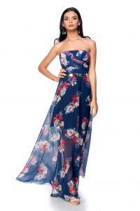 rochie lunga de vara bleumarin