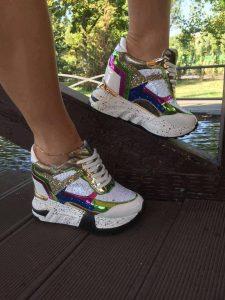 pantofi sport cu platforma multicolori