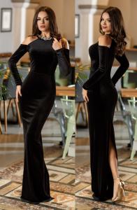 rochie lunga neagra pentru Craciun