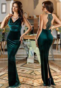 Rochie pentru revelion lunga, verde