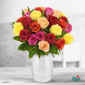 buchet trandafiri multicolori, comanda online