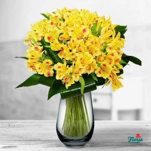 buchet flori galbene, online