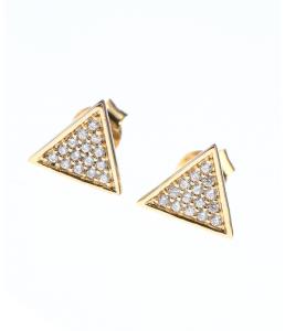 cercei aur forma triunghi
