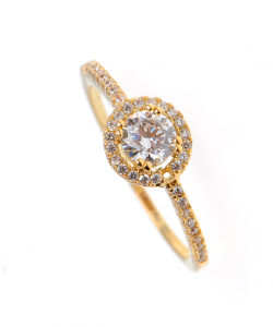 inel logodna placat cu aur